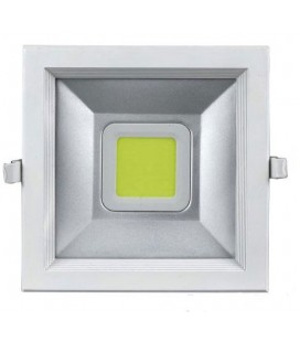 Downlight Led 30W cuadrado Luz blanco neutro