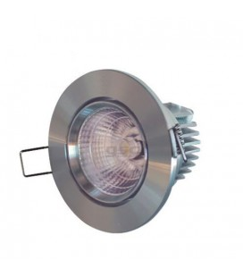 Downlight led cob de 9 W,  aro color níquel